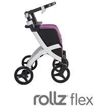 """Rollz Flex, White Frame, Bright Purple Bag, Flip Brake"""