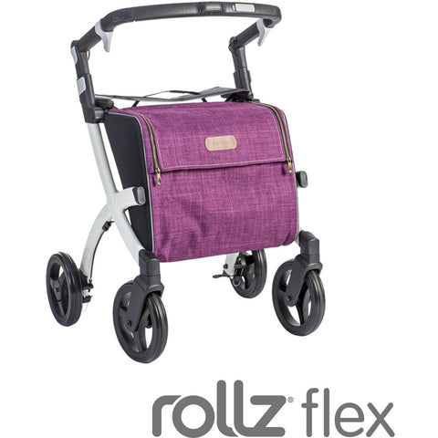 """Rollz Flex, White Frame, Bright Purple Bag,  Classic Brake"""