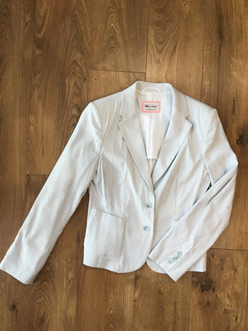 White Label Smart Casual Light Blue & White Pin Stripe Jacket