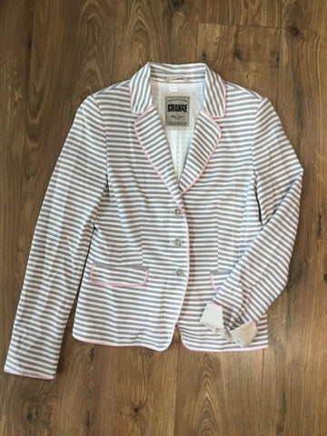 White Label Smart Casual Striped Jacket, With Cuffed Detail