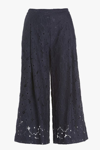 Ottod'Ame Beautiful Navy Lace Cullotte Trousers..