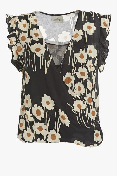 Ottod'Ame Smart Abstract  Floral Print Blouse