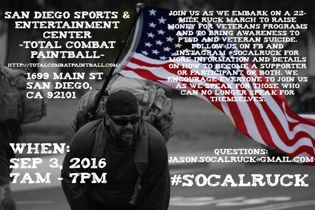 SOCAL RUCK SEPTEMBER 3rd, 2016