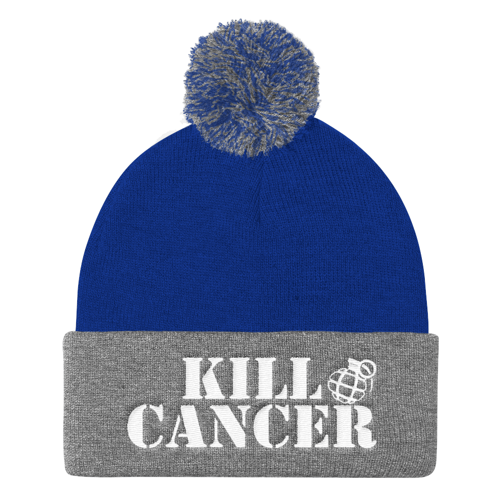 LUNG CANCER AWARENESS POM-POM BEANIE