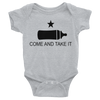 COME AND TAKE THIS BOTTLE ONESIE