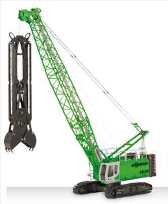 1/50 Sennebogen 690HD Crawler Crane w/ Diaphragm Wall Grab