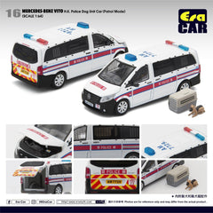 1/64 Era Car 16 Mercedes-Benz Vito HK Police Dog Unit Car (Patrol Mode)
