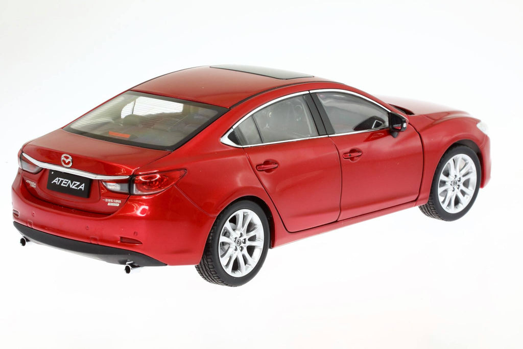 1 18 Mazda 6 Atenza Diecast Model In Red Network Shuttle Diecast