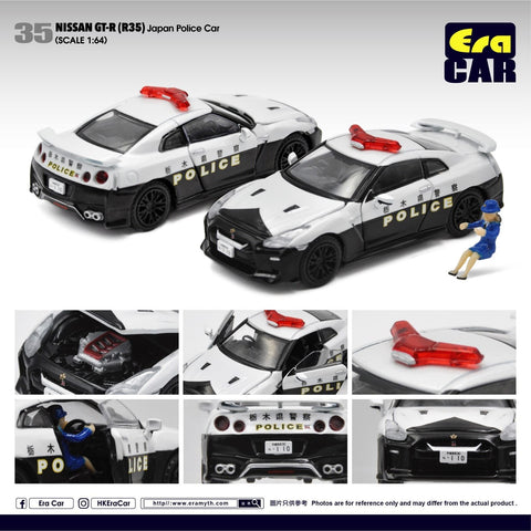 1/64 Era Car 35 Nissan GT-R (R35) Japan Police Car