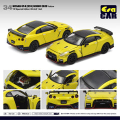 (Pre-Order) 1/64 Era Car 34 Nissan GT-R (R35) Nismo 2020 Yellow (1st Special Edition)