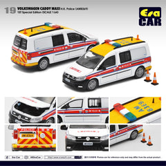1/64 Era Car 19 Volkswagen Caddy Maxi HK Police (AM8369) (1st Special Edition)