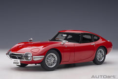 (Pre-Order) 1/18 AUTOART 78761 Toyota 2000 GT (Red with Metal Wire Spoke Wheels)
