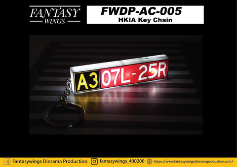 Fantasywings FWDP-AC-005 Taxiway Sign Key Chain (Hong Kong International Airport)