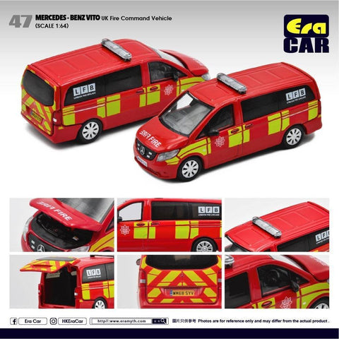 (Pre-Order) 1/64 Era Car 47 Mercedes-Benz Vito UK Fire Command Vehicle