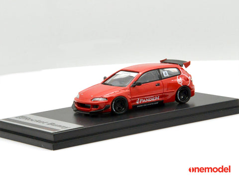 (Pre-Order) 1/64 ONE MODEL 21A06-03 Rocket Bunny Civic EG6 Red