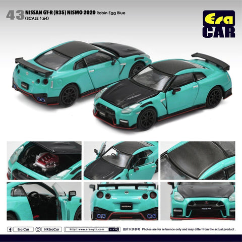 1/64 Era Car 43 Nissan GT-R (R35) Nismo 2020 Robin Egg Blue