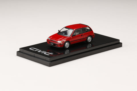 (Pre-Order) 1/64 Hobby Japan HJ641029AR Honda Civic Si (AT) 1984 Red