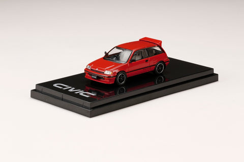 (Pre-Order) 1/64 Hobby Japan HJ641029CR Honda Civic Si (AT) 1984 Customized Version Red