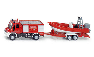 Siku 1636 1/87 Unimog Fire Engine with Boat