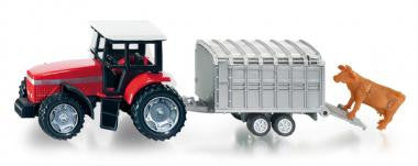 Siku 1640 Tractor with Stock Trailer