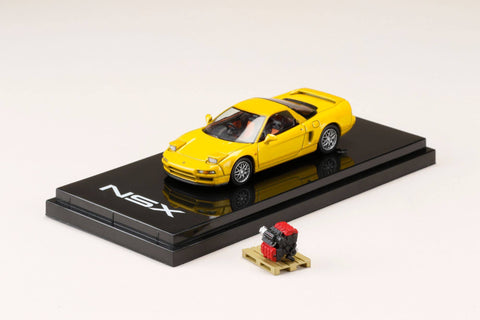 (Pre-Order) 1/64 Hobby Japan HJ642006SY Honda NSX (NA2) 1997 Type S ZERO with Engine Display Model Yellow Pearl