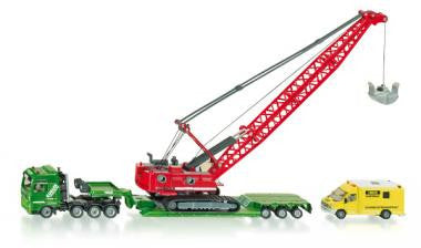 Siku 1834 1/87 Heavy Haulage transporter with excavator