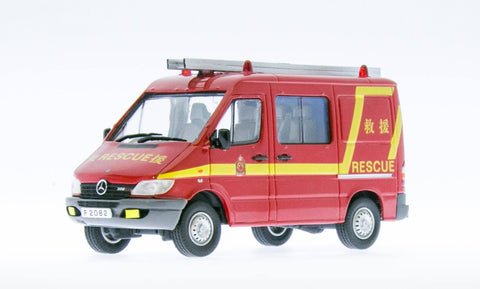 1/43 Mercedes Benz Sprinter CDI Hong Kong Fire Service Dept (HKFSD) Light Fire Appliance F2802