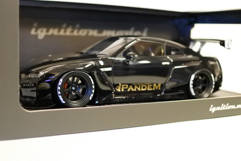 1/18 ignition model - IG1005 Pandem Nissan GTR R35 Black
