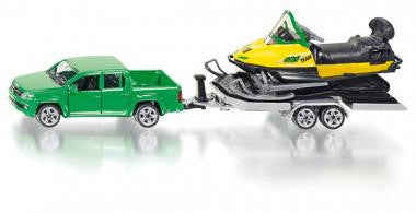 Siku 2548 1/50 Car with trailer and snowmobile