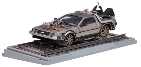 "1/18 SUN STAR 2714 DE LOREAN ""Back to the Future"" Part III Railroad version"