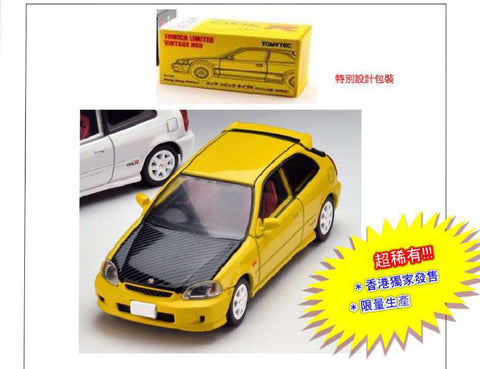 (Pre-order) TOMY Tomytec TLV Civic Type R Yellow 99Years Model