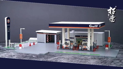 1/64 XCarToys Petrol Station - Gulf
