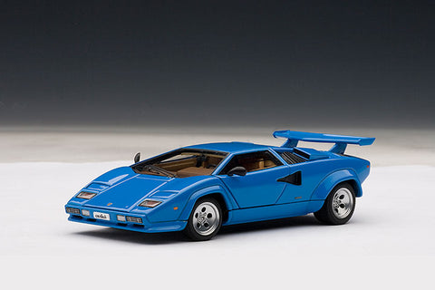 "1/43 AUTOart 54534 4LAMBORGHINI COUNTACH 5000 S - BLUE ""Full openings"""