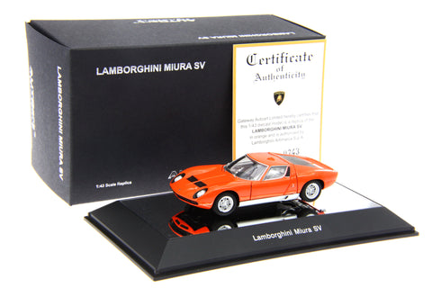 1/43 AUTOART 54542 LAMBORGHINI MIURA SV - ORANGE WITH OPENINGS