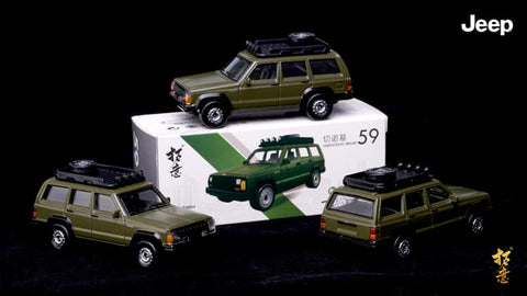 1/57 XCarToys 59 Jeep Cherokee - Green