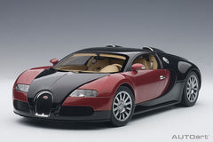 1/18 AUTOART 70909 Bugatti EB 16.4 Veyron Production Car (Interior in Beige/ Body Shell in Bkack/ Red)