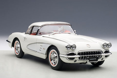 1/18 AUTOART 71147 CHEVROLET CORVETTE 1958 (SNOWCREST WHITE)