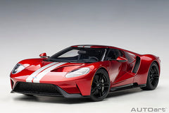 1/18 AUTOART 72943 Ford GT 2017 (Liquid Red/ Silver Stripes)