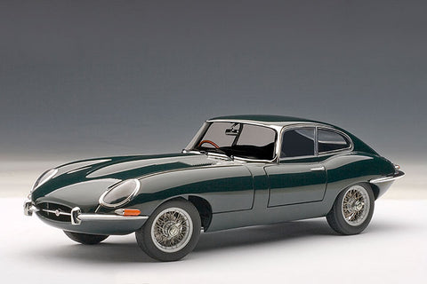 1/18 AUTOART 73612 Jaguar E-Type Coupe Series I 3.8 (Green) (with Metal Wire-Spoke Wheels)