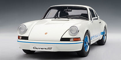 1/18 AUTOART 78052 PORSCHE 911 CARRERA RS 2.7 1973 - WHITE WITH BLUE STRIPES