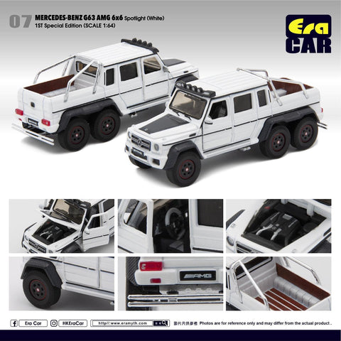 1/64 Era Car 07 Mercedes-Benz G63 AMG 6x6 Spotlight White (1st Special Edition)