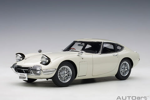 1/18 AUTOART 78754 Toyota 2000GT (White/ Wire Spoke Wheels)