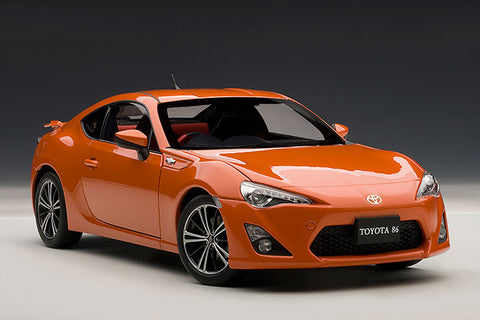 "1/18 AUTOART 78771 TOYOTA 86 GT ""LIMITED"" (ASIAN VERSION/RHD)(ORANGE METALLIC)"