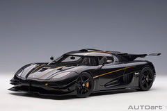 (Pre-Order) 1/18 AUTOART 79019 Koenigsegg ONE:1 (Clear Carbon/ Gold Stripes)