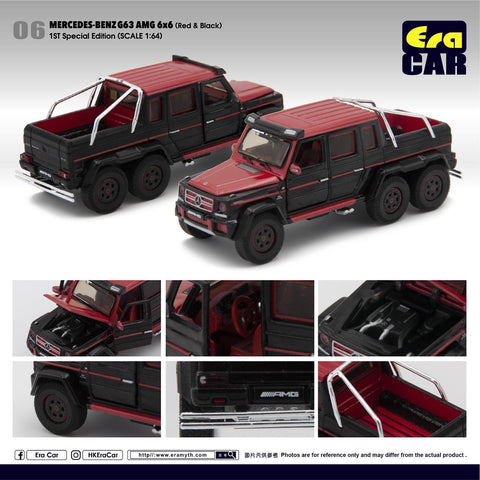 1/64 Era Car 06 Mercedes-Benz G63 AMG 6x6 Red & Black (1st Special Edition)