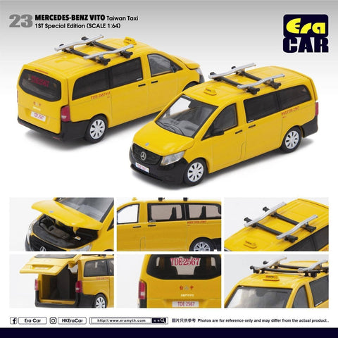 1/64 Era Car 23 Mercedes-Benz Vito Taiwan Taxi (1st Special Edition)