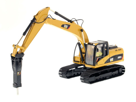 Diecast Masters 85280 1/50 Caterpillar CAT 320D L Hydraulic Excavator with hammer