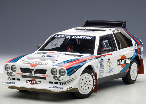 1/18 AUTOART 88621 LANCIA DELTA S4 MARTINI RALLY WINNER ARGENTINA 1986 BIASION/SIVIERO #5 (LIMITED EDITION OF 1,000 PCS WORLDWIDE)