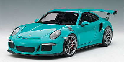 1/18 AUTOART 78167 PORSCHE 911(991) GT3 RS (MIAMI BLUE/DARK GREY WHEELS)