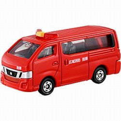 TAKARA TOMY - Tomica No.027 NISSAN NV350 CARAVIAN FIRE CHIEF CAR